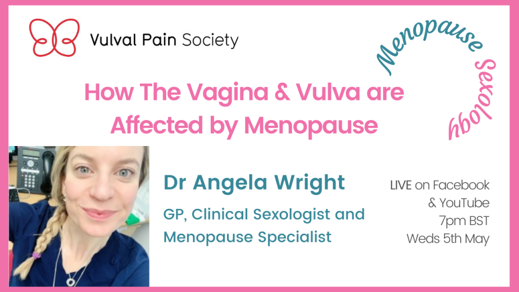 Watch Dr Wright's presentation on the vulva and vagina and menopause on YouTube