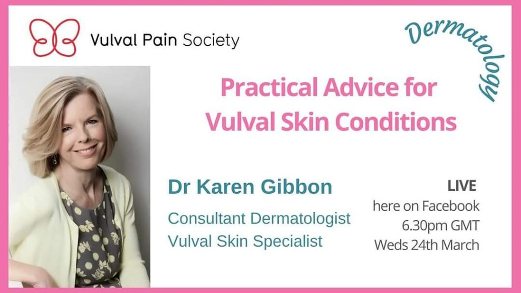 Watch Dr Gibbon's video on vulval skin conditions on YouTube
