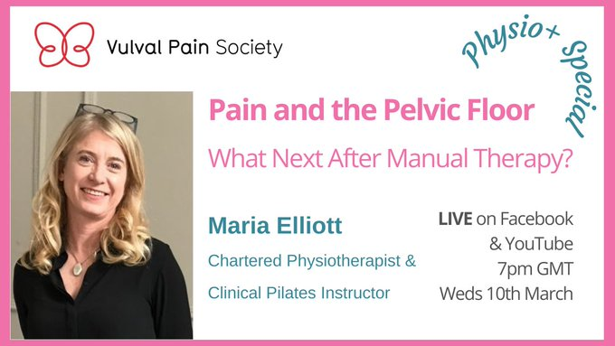 Watch Maria Elliott's presentation on physiotherapy, pain and the pelvic floor on YouTube